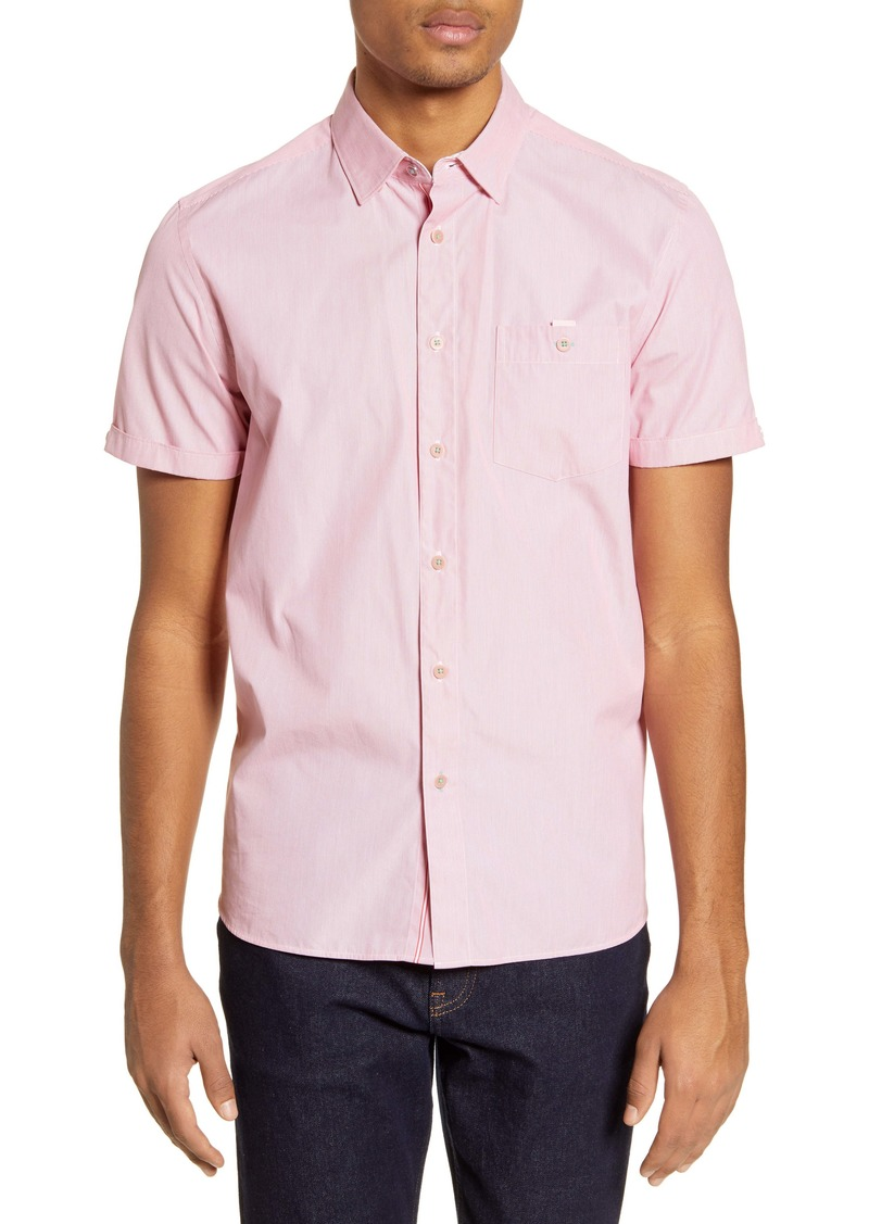 Ted Baker London Sayhi Pinstripe Short Sleeve Button-Up Shirt