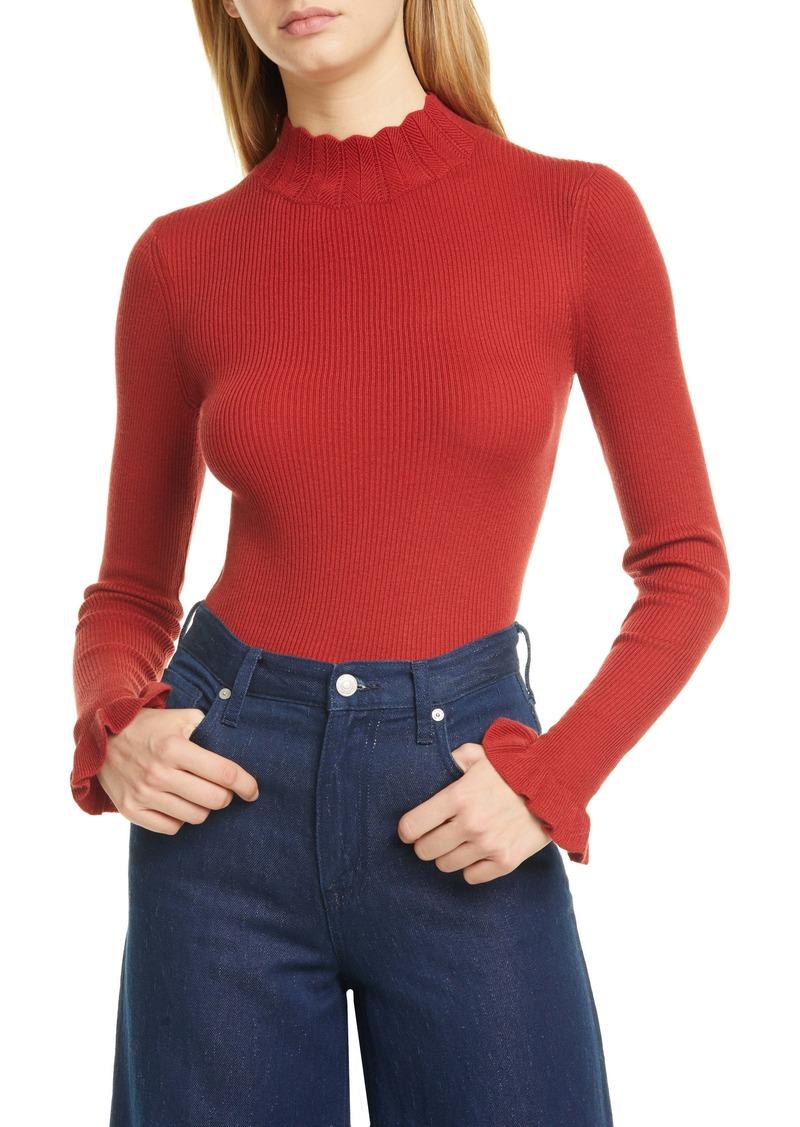 Ted Baker London Scalloped Neck Sweater