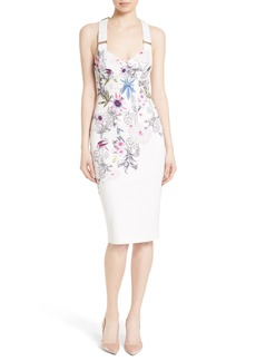 Ted Baker London Scarlin Passion Flower Body-Con Dress
