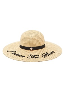 Ted Baker London Script Embroidered Floppy Hat