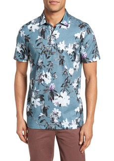 Ted Baker London Scruff Trim Fit Floral Print Polo