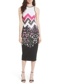 Ted Baker London Seenaa Print Jersey Midi Dress