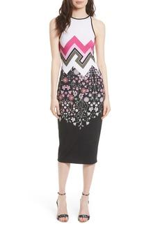Ted Baker London Seenaa Print Jersey Midi Dress