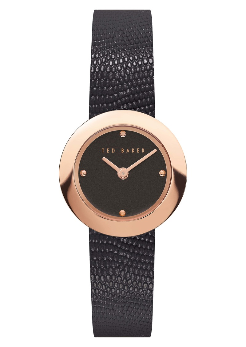 Ted Baker London Seerena Leather Strap Watch, 24mm