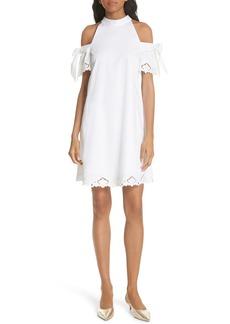 Ted Baker London Semarra Embroidered Cold Shoulder Dress
