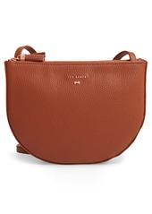 Ted Baker London Suzzane Semi Circle Double Zip Leather Crossbody Bag