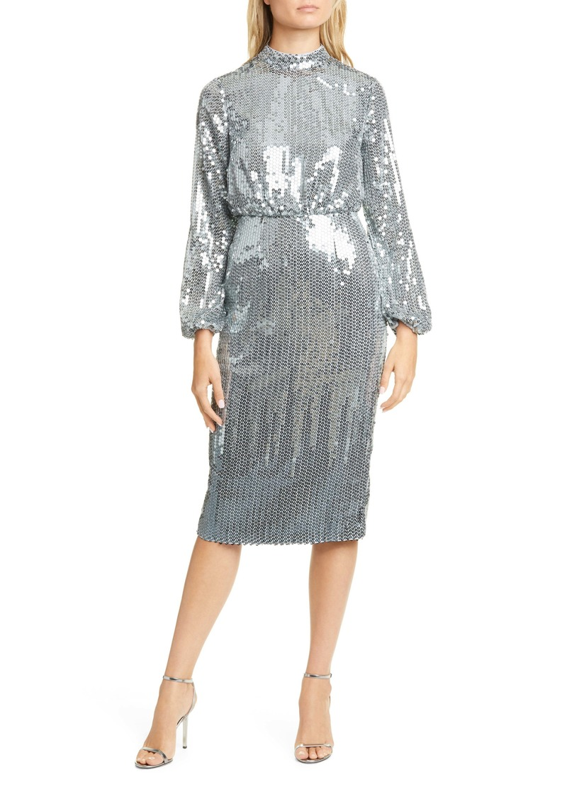 Ted Baker London Sequin Long Sleeve Dress