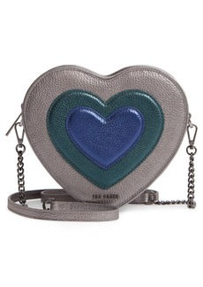 Ted Baker London Serera Metallic Heart Leather Shoulder Bag