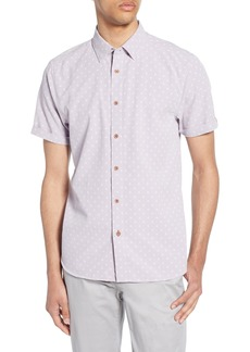 Ted Baker London Seret Slim Fit Diamond Print Woven Shirt