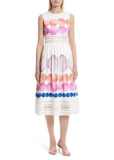 Ted Baker London Serinah Stretch Cotton Midi Dress