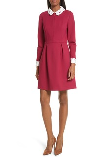 Ted Baker London Shealah Embroidered Trim A-Line Dress