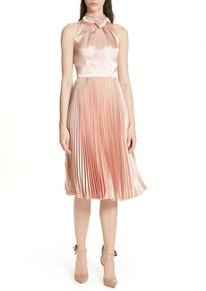 Ted Baker London Shineey Bow Pleated Midi Dress