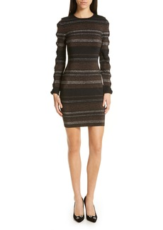 Ted Baker London Simona Metallic Stripe Body-Con Dress