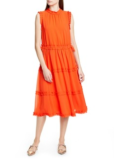 Ted Baker London Sinita Tie Waist Midi Dress
