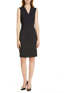 Ted Baker London Sleeveless Wool Blend Sheath Dress