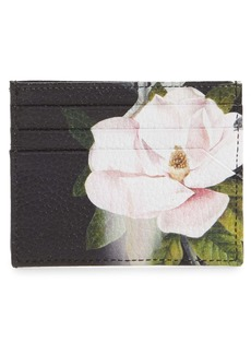 Ted Baker London Slilkioopal Floral Leather Card Case
