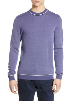 Ted Baker London Slim Fit Bird's Eye Crewneck Sweater
