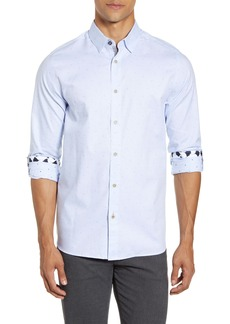Ted Baker London Slim Fit Diamond Dobby Button-Up Shirt