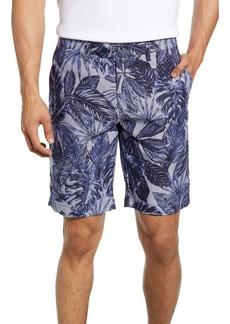 Ted Baker London Slim Fit Leaf Print Shorts