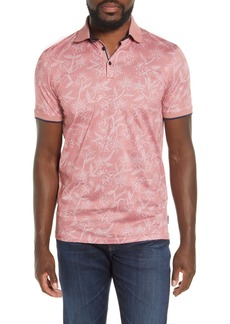 Ted Baker London Slim Fit Linear Floral Print Polo