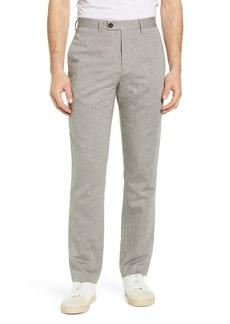 Ted Baker London Slim Fit Linen & Cotton Blend Trousers