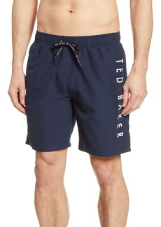 Ted Baker London Slim Fit Logo Swim Trunks