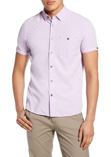 Ted Baker London Slim Fit No Chip Short Sleeve Button-Up Shirt