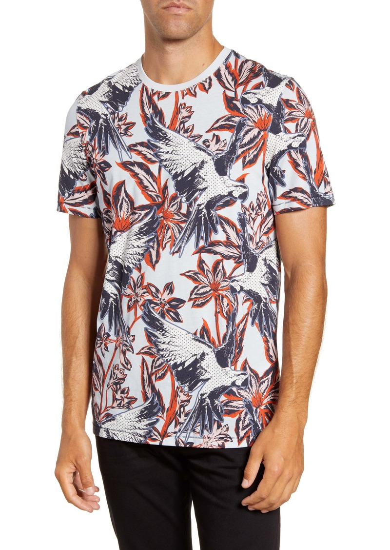 Ted Baker London Slim Fit Parrot Print T-Shirt