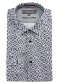 Ted Baker London Modern Fit Stretch Geometric Dress Shirt