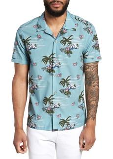 Ted Baker London Slim Fit Tropical Pattern Sport Shirt