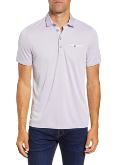 Ted Baker London Slim Fit Woven Collar Polo
