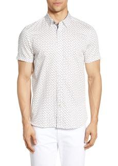 Ted Baker London Slloris Slim Fit Geo Print Woven Shirt