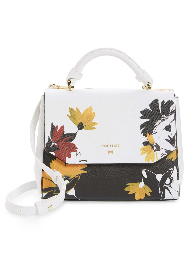 Ted Baker London Small Lottah Savanna Faux Leather Top Handle Bag