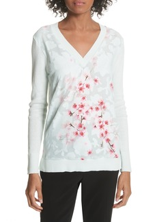 Ted Baker London Soft Blossom Burnout Front Sweater