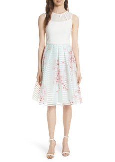 Ted Baker London Soft Blossom Fit & Flare Dress