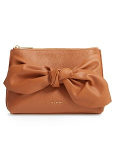 Ted Baker London Darnna Soft Knot Leather Clutch