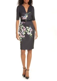 Ted Baker London Soliaa Pergola Floral Body-Con Dress