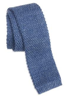 Ted Baker London Solid Knit Linen & Silk Skinny Tie
