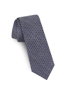 Ted Baker London Solid Silk & Linen Tie