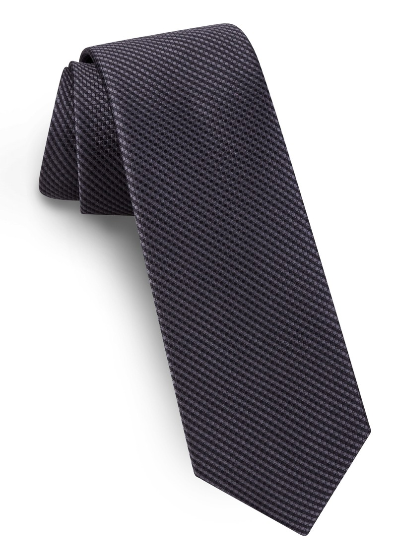 Ted Baker London Solid Skinny Silk Tie