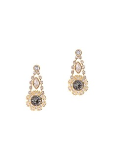 Ted Baker London Somaa Stainless Steel and Crystal Daisy Lace Drop Earring
