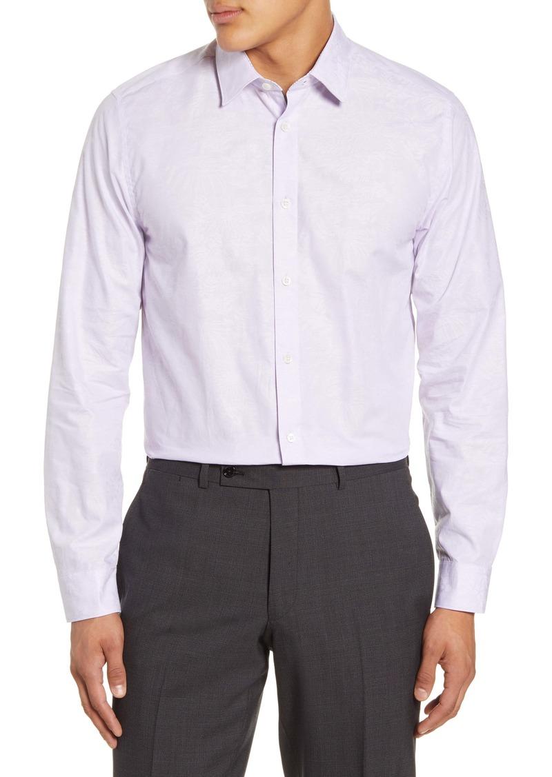 Ted Baker London Spageti Modern Fit Floral Dress Shirt