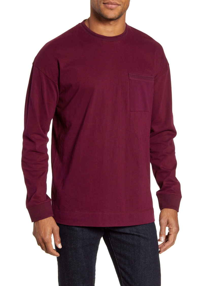 Ted Baker London Speedin Long Sleeve Slim Fit Pocket T-Shirt