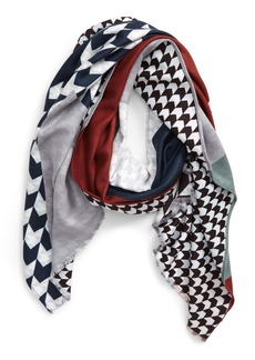 Ted Baker London Spliced Houndstooth Scarf