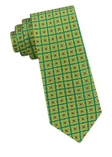 Ted Baker London Square Flower Silk Tie