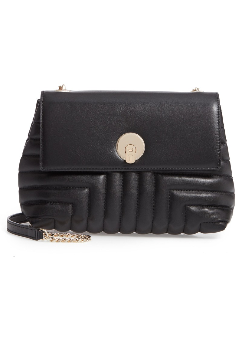 1be2e4039ad Ted Baker London Ssusiee Circle Lock Quilted Leather Crossbody Bag