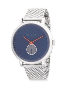 Ted Baker Stainless Steel Chronograph Mesh Bracelet Watch