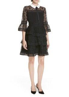 Ted Baker London Star Lace Ruffle Dress