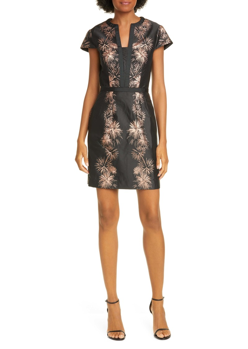 Ted Baker London Stardust Metallic Jacquard Minidress