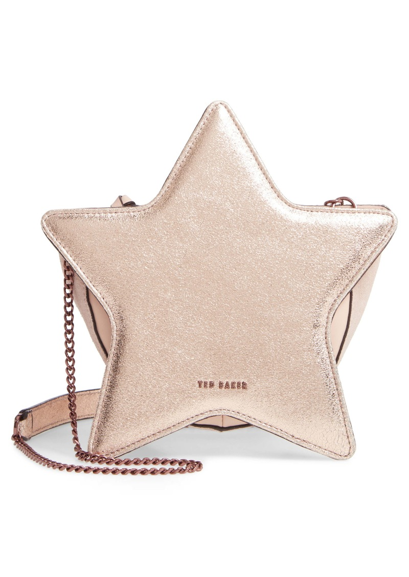 Ted Baker London Starry Metallic Leather Shoulder Bag